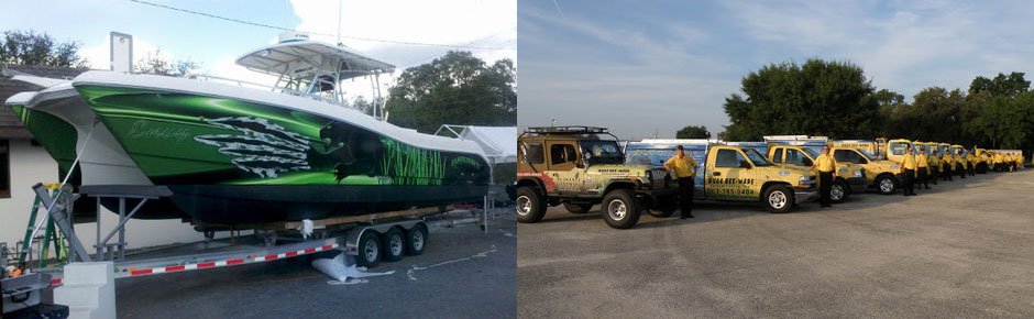 boat wrap and fleet wraps