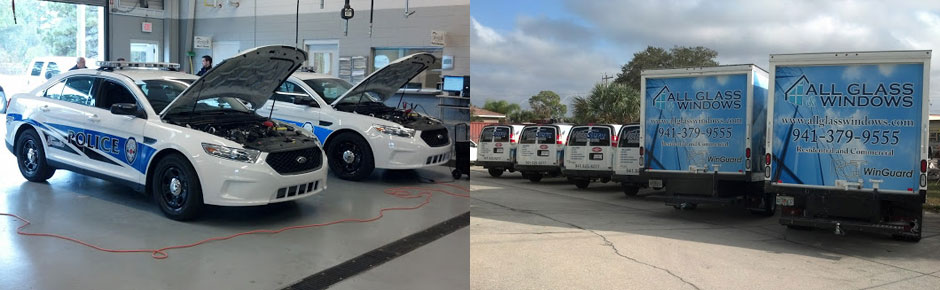 police car and fleet wraps